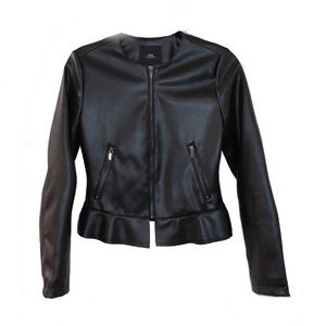 Zara faux leather peplum jacket